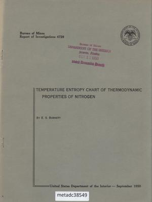 Primary view of Temperature Entropy Chart of Thermodynamic Properties of Nitrogen