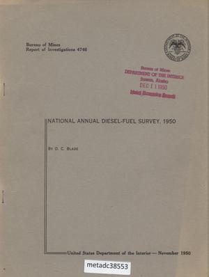 Primary view of object titled 'National Annual Diesel-Fuel Survey, 1950'.