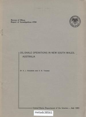 Primary view of object titled 'Oil-Shale Operations in New South Wales, Australia'.