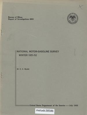 Primary view of object titled 'National Motor-Gasoline Survey: Winter 1951-52'.