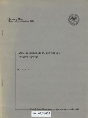 Primary view of object titled 'National Motor-Gasoline Survey: Winter 1952-53'.
