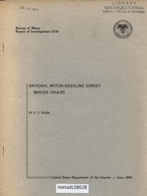 Primary view of object titled 'National Motor-Gasoline Survey: Winter 1954-55'.