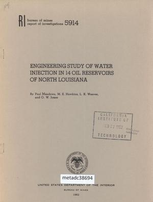 Engineering Study of Water Injection in 14 Oil Reservoirs of North Louisiana
