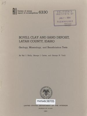 Bovill Clay and Sand Deposit, Latah County, Idaho: Geology, Minerology, and Beneficiation Tests