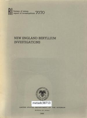 Primary view of object titled 'New England Beryllium Investigations'.