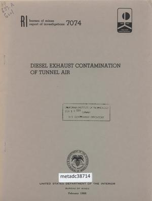 Primary view of object titled 'Diesel Exhaust Contamination of Tunnel Air'.