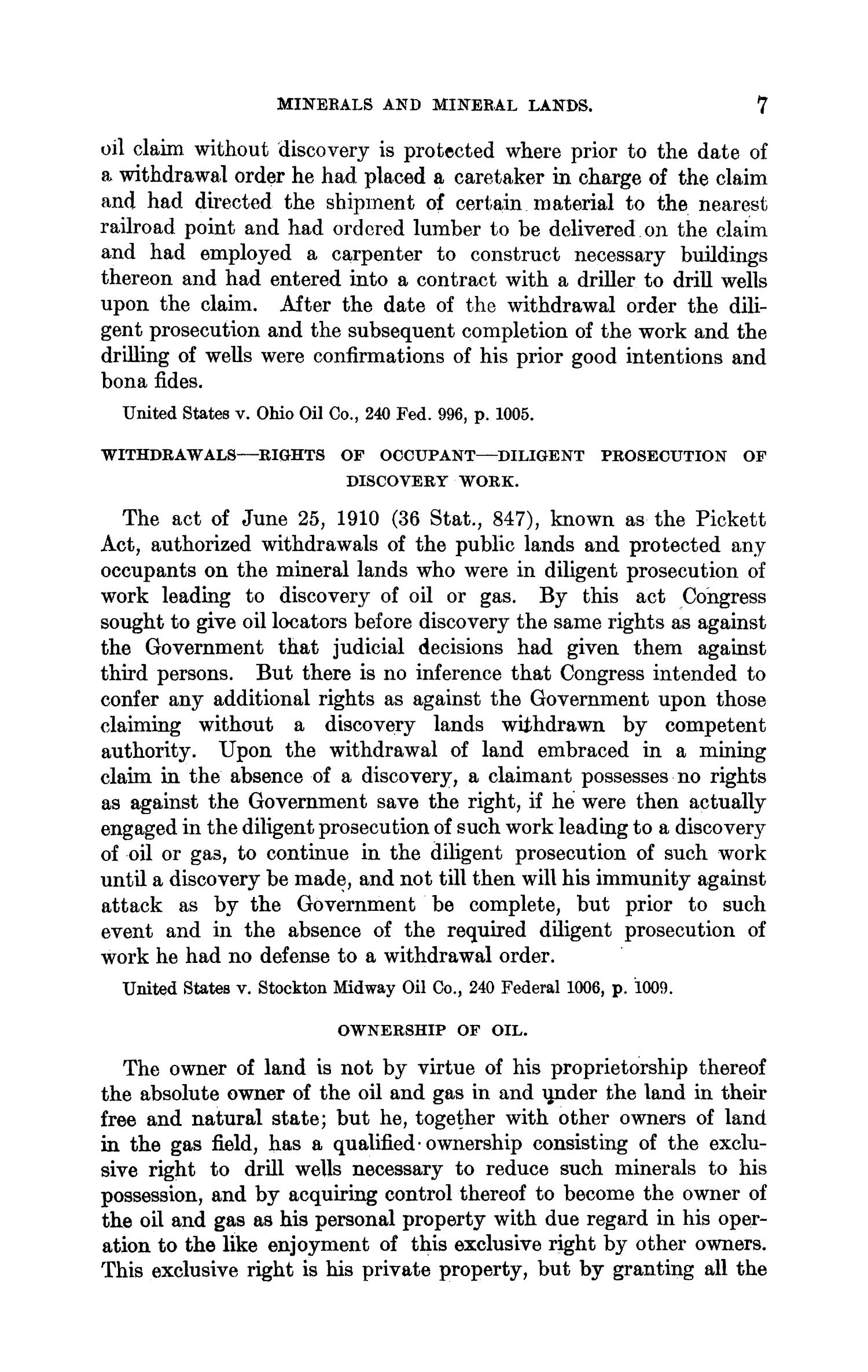 Abstracts of Current Decisions on Mines and Mining: May to August, 1917                                                                                                      7