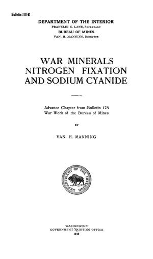 Primary view of object titled 'War Minerals, Nitrogen Fixation and Sodium Cyanide'.