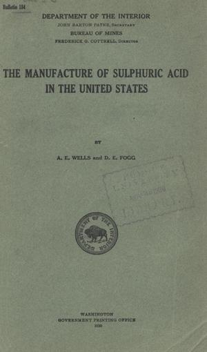The Manufacture of Sulphuric Acid in the United States