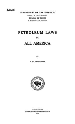 Primary view of object titled 'Petroleum Laws of All America'.