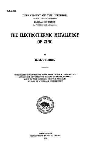 Primary view of object titled 'The Electrothermic Metallurgy of Zinc'.