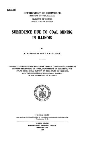 Primary view of object titled 'Subsidence Due to Coal Mining in Illinois'.
