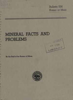 Mineral Facts and Problems, 1956