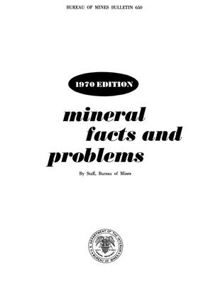 Primary view of object titled 'Mineral Facts and Problems: 1970 Edition'.