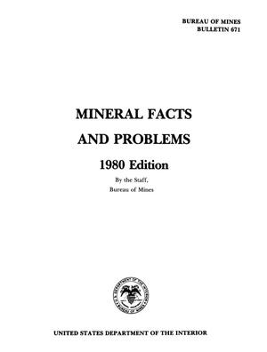 Primary view of object titled 'Mineral Facts and Problems: 1980 Edition'.