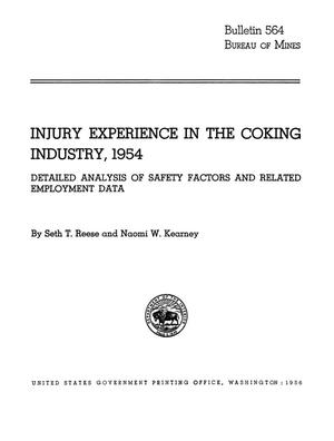 Injury Experience in the Coking Industry, 1954: Detailed Analysis of Safety Factors and Related Employment Data