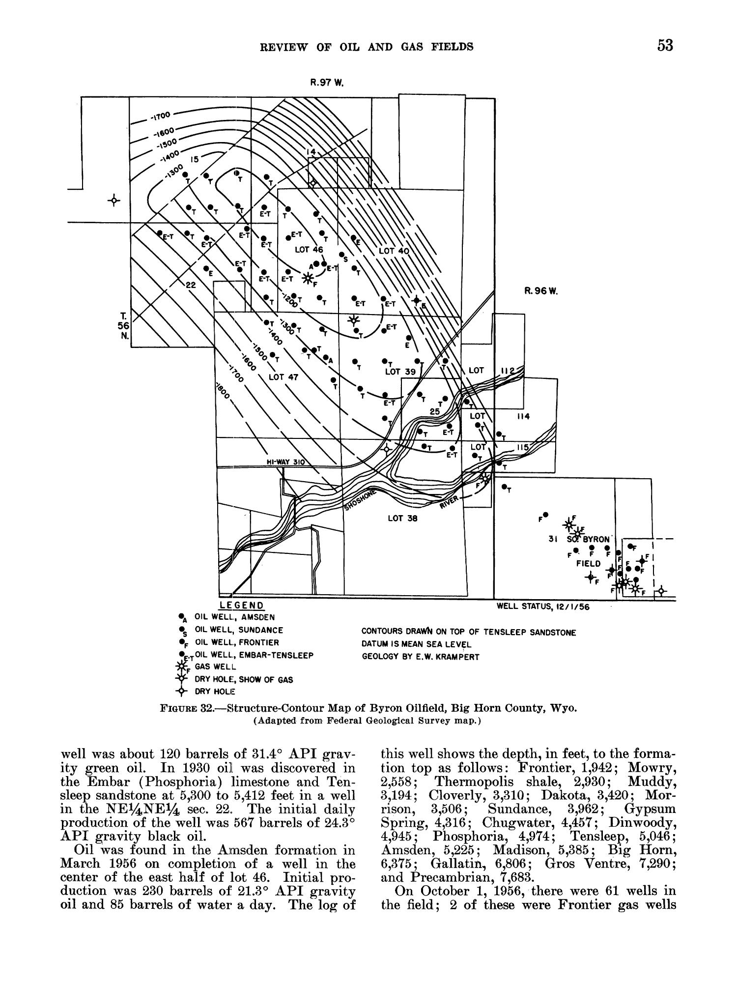 Petroleum and Natural Gas Fields in Wyoming                                                                                                      53