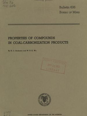 Primary view of object titled 'Properties of Compounds in Coal-Carbonization Products'.