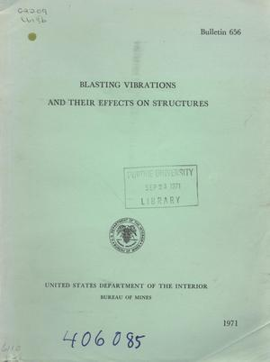 Primary view of object titled 'Blasting Vibrations and Their Effects on Structures'.