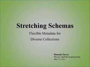 Primary view of object titled 'Stretching Schemas: Flexible Metadata for Diverse Collections'.