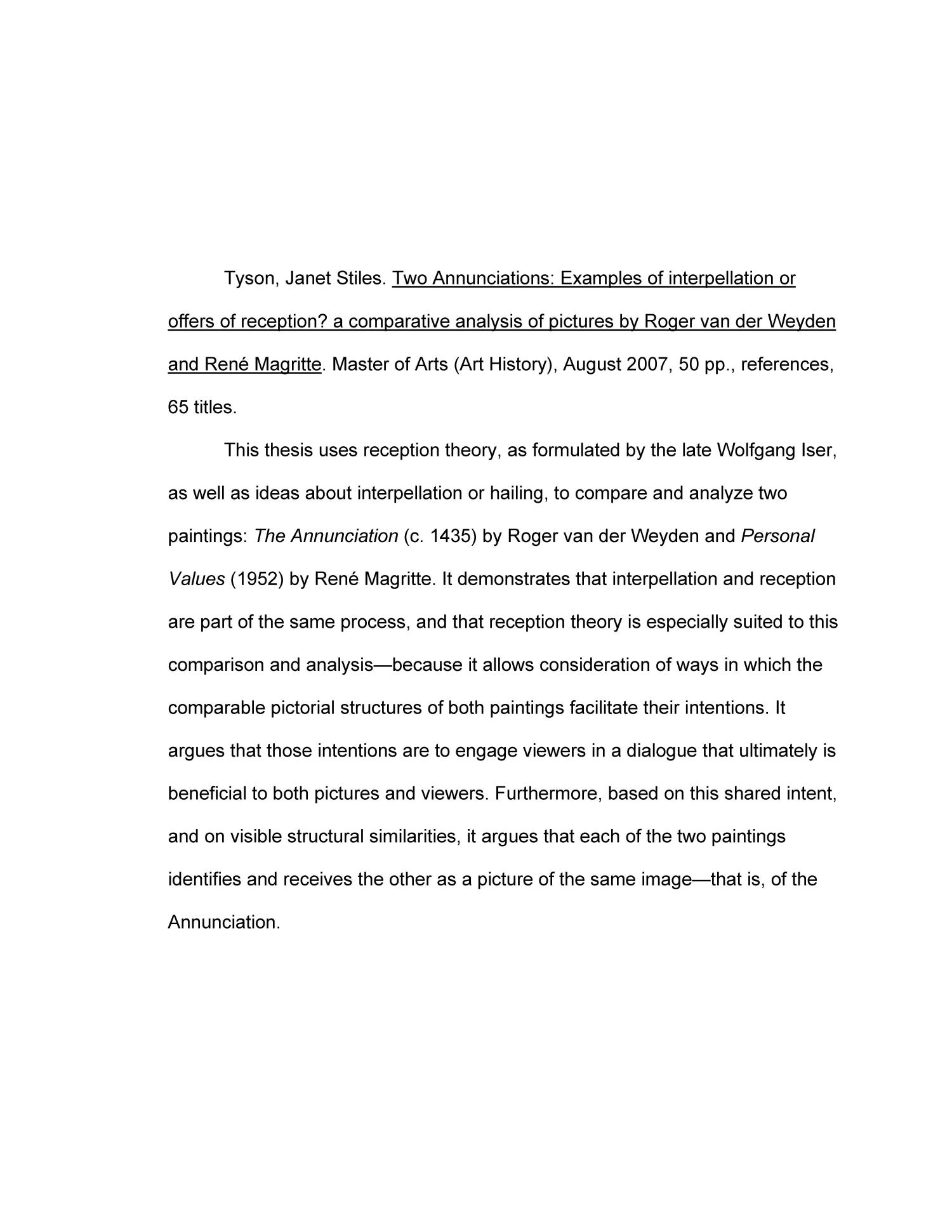 Custom Essay Paper Thumbnail Image Of Item Number  In Two Annunciations Examples Of  Interpellation Or How To Write Essay Proposal also How To Start A Proposal Essay Two Annunciations Examples Of Interpellation Or Offers Of Reception  Good Thesis Statement Examples For Essays