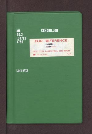 Primary view of Cendrillon