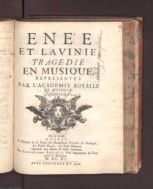 Primary view of object titled 'Enée et Lavinie'.