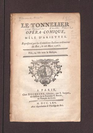 Primary view of Le tonnelier