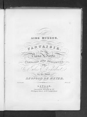 Airs russes: fantaisie for the piano forte, op.43