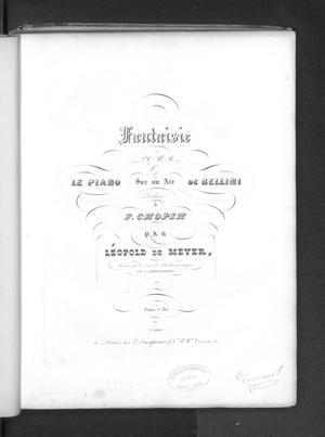 Primary view of Fantaisie pour le piano sur un air de Bellini