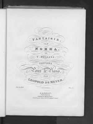 Primary view of object titled 'Fantaisie sur Norma, [op.40]'.