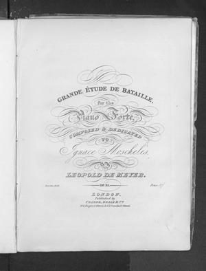 Grande étude de bataille, for the piano forte, op. 35