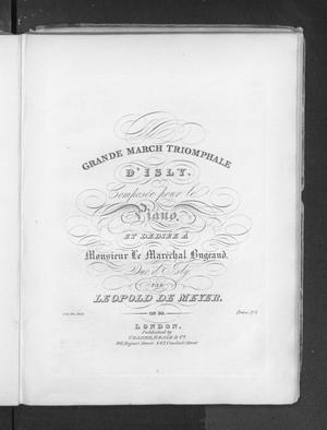 Grande marche triomphale d'Isly, op.30