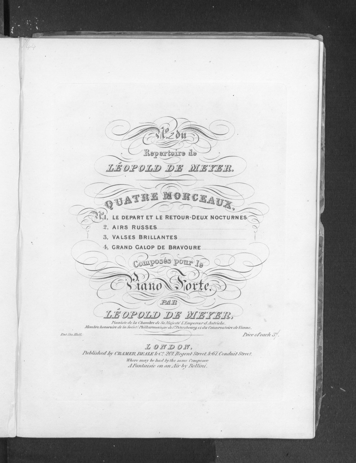 Airs russes, [op.20]                                                                                                      Title Page
