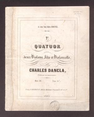 7e. quatuor, pour deux violons, alto et violoncelle, oeuv.80