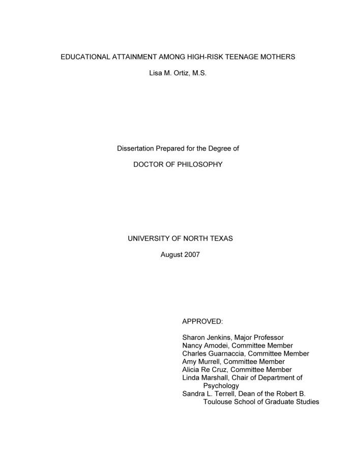 metadc high dissertation