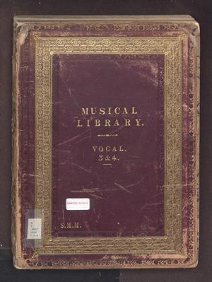 Primary view of object titled 'The Musical Library, Vocal: Volumes 3 & 4'.