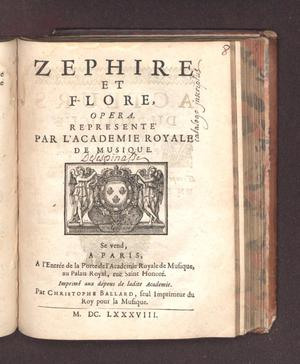 Primary view of object titled 'Zephire et Flore'.