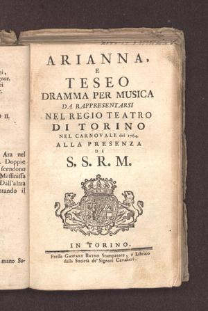 Primary view of Arianna e Teseo