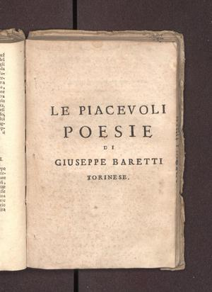 Primary view of object titled 'Le piacevoli poesie'.