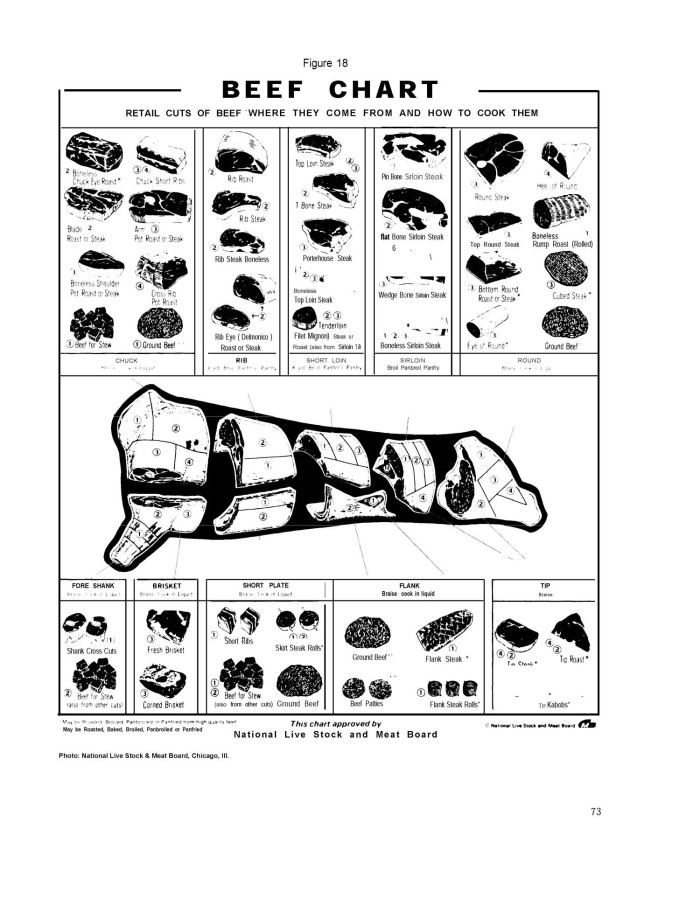 figure 18 beef chart retail cuts of beef where they come from and how ...