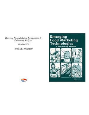 Primary view of object titled 'Emerging Food Marketing Technologies: A Preliminary Analysis'.
