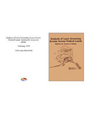 Analysis of Laws Governing Access Across Federal Lands
