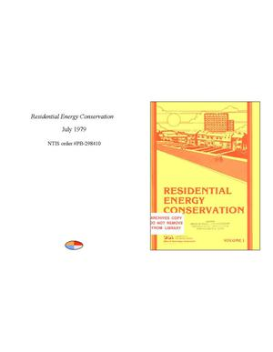 Primary view of object titled 'Residential Energy Conservation'.