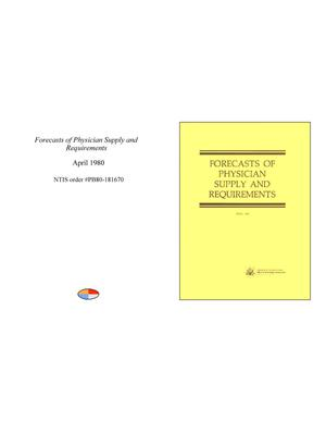 Primary view of object titled 'Forecasts of Physician Supply and Requirements'.