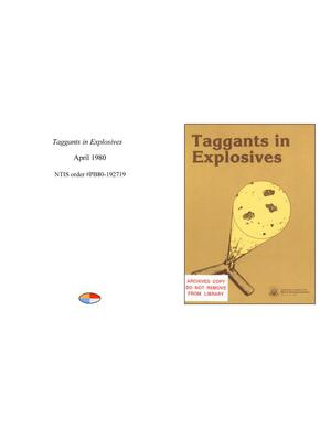 Primary view of object titled 'Taggants in Explosives'.