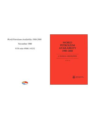 Primary view of object titled 'World Petroleum Availability 1980-2000'.