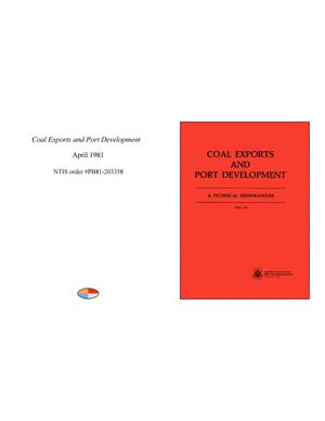 Primary view of object titled 'Coal Exports and Port Development'.