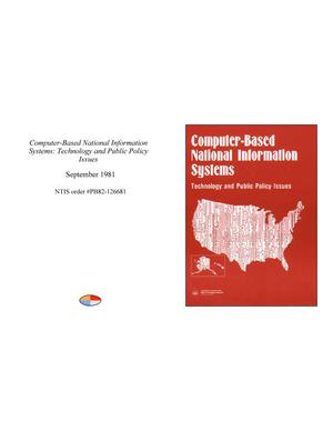Computer-Based National Information Systems: Technology and Public Policy Issues