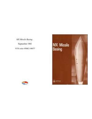 Primary view of object titled 'MX Missile Basing'.